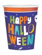 8 Gobelets en carton Halloween friends 250 ml