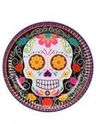 Vous aimerez aussi : 6 Petites assiettes en carton squelette coloré 18 cm