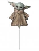 Ballon aluminium bébé Yoda The mandalorian™ 23 cm