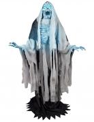 Décoration animée, lumineuse et sonore squelette blanc 240 cm