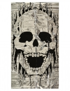 Décoration de porte squelette 75 x 150 cm