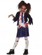 Déguisement écoliere zombie bleue fille