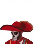 Sombrero rouge Dia de los muertos