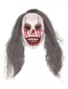 Masque clown sanglant avec cheveux