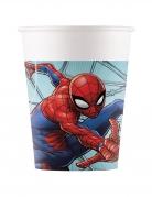 8 Gobelets en carton Spiderman™ 200 ml