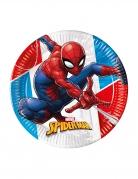 8 Assiettes en carton Spiderman™ rouge et bleu 23 cm