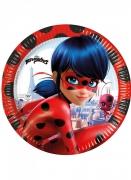8 Assiettes en carton Miraculous Ladybug™ 23 cm