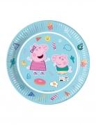8 Assiettes en carton FSC Peppa Pig™ bleues 23 cm
