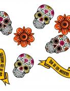 24 Confettis en bois Dia de los muertos