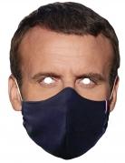 Masque en carton président portant un masque