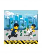 20 Serviettes en papier FSC® Lego City™ 33 x 33 cm