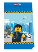 4 Petits sacs de fête en papier FSC® Lego City™
