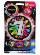 Ballon aluminium chiffre 7 multicolore LED Illooms® 50 cm