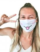 Masque cache nez imprimé chat adulte