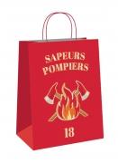 4 Sacs cadeaux en papier Pompier 20 cm