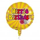 Ballon aluminium Hippie Birthday 45 cm
