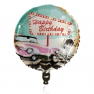 Ballon aluminium Happy Birthday Rock'n'roll  45 cm