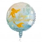 Ballon aluminium Joyeux Anniversaire sirène 45 cm