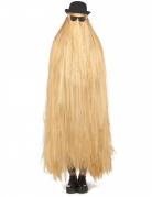 Perruque extra longue blonde adulte