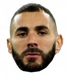 Masque en carton Karim Benzema