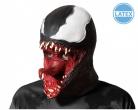 Masque latex symbiote noir et blanc adulte