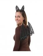 Set ailes et oreilles de chauve-souris dentelle noire