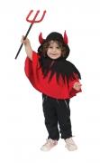 Cape de petit diable rouge et noir bébé
