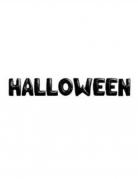 Guirlande ballons aluminium Halloween lettres noires 40 cm