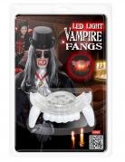 Dentier de vampire a LED rouge