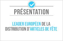 Leader européen de la distribution d'articles de fête